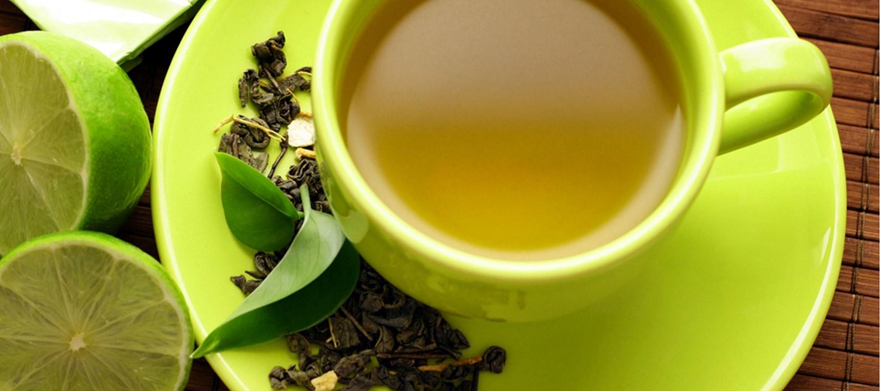 chá verde e limão