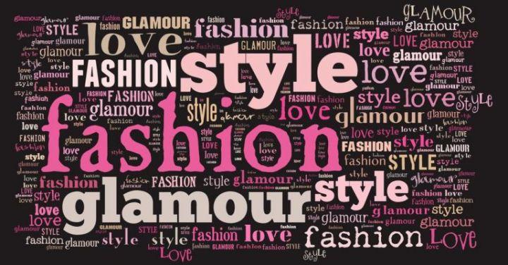 Nuvem de palavras relacionadas a moda